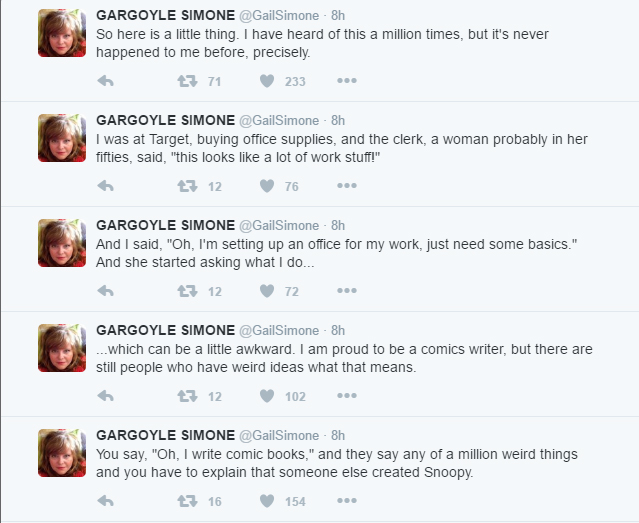 Twitter Commentary by @GailSimone